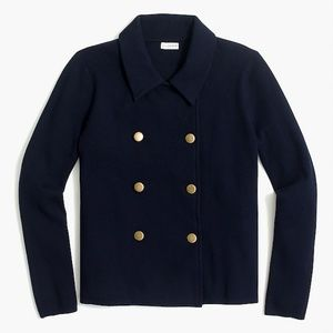 J. Crew Factory Double-Breasted Sweater Jacket